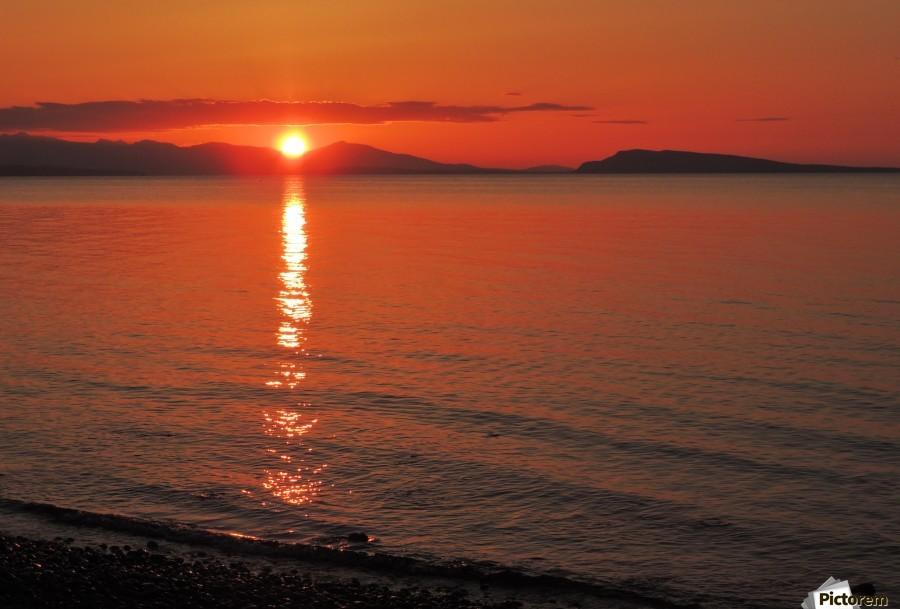 Qualicum Beach Sunset  Print