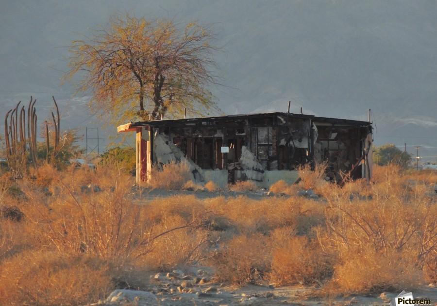 Abandoned in the Desert  Print