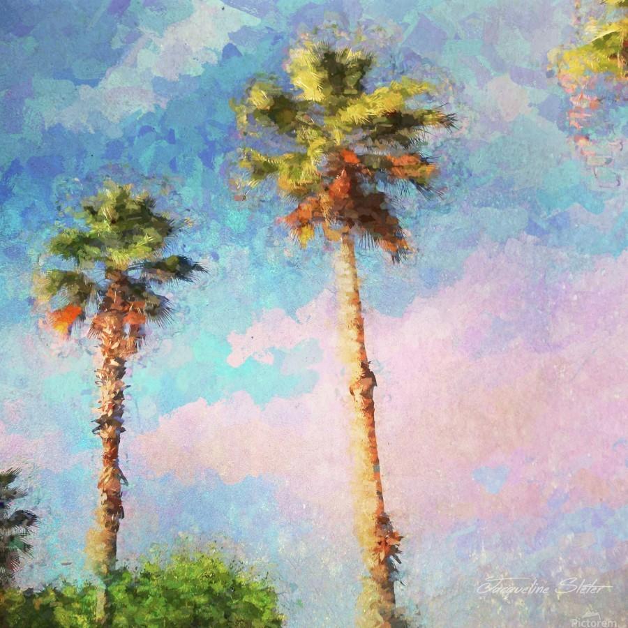 Painted Palms  Print