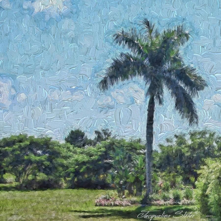 A Monet style Palm  Print