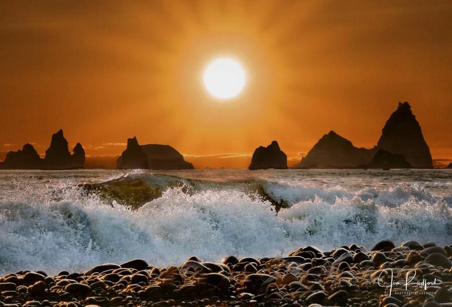 Sunset at Rialto Beach  Print
