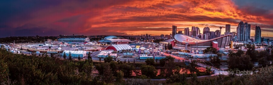 Calgary After the Storm - Fire in the Sky  Print