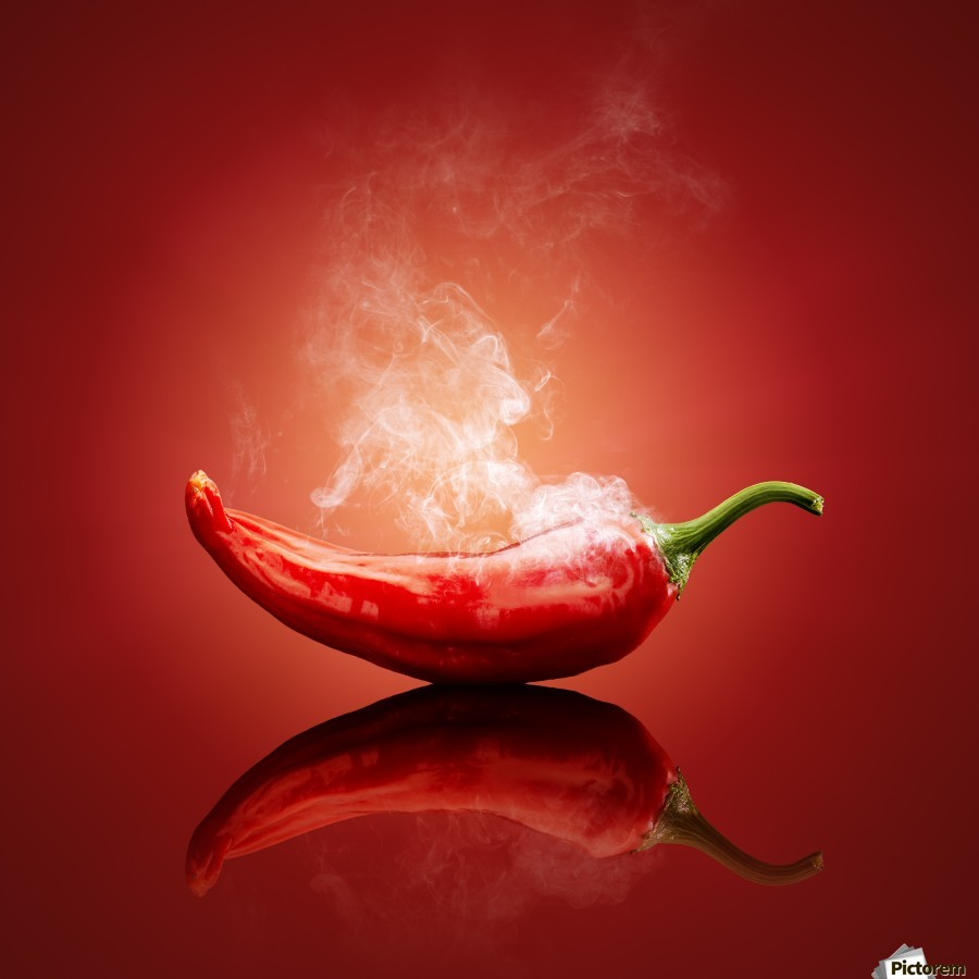 Chili red steaming hot  Print