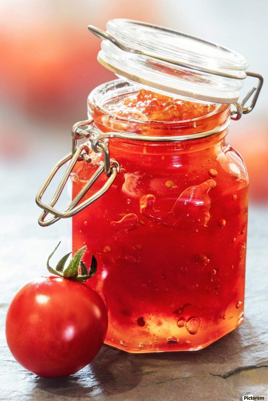Tomato Jam in Glass Jar  Print