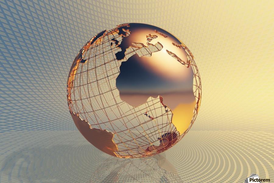 World global business background  Print