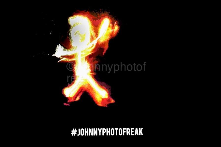 Fire Stick Man   Print