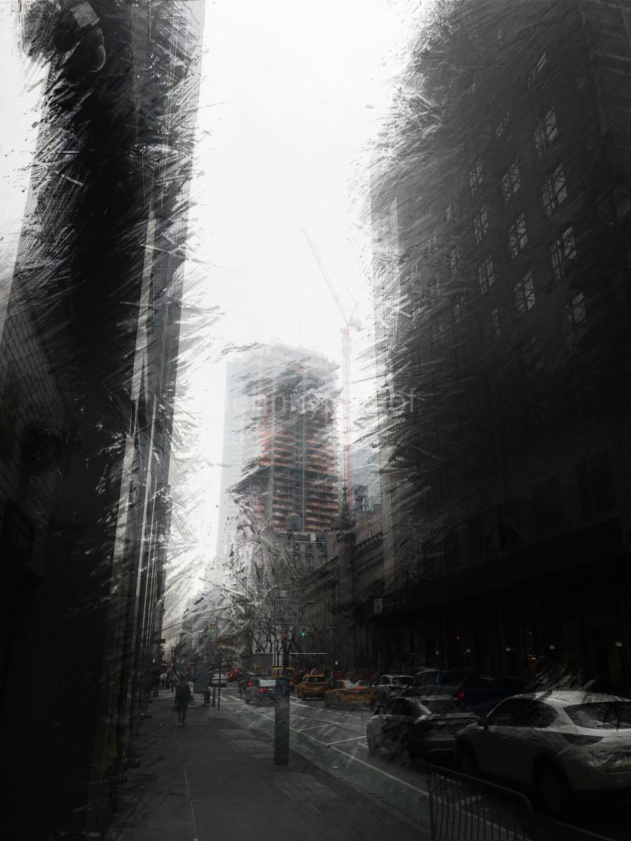 Skyscraper black and white   Print