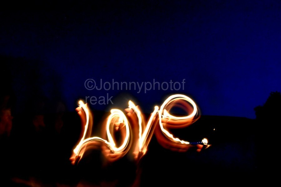 Love lights sculpture   Print