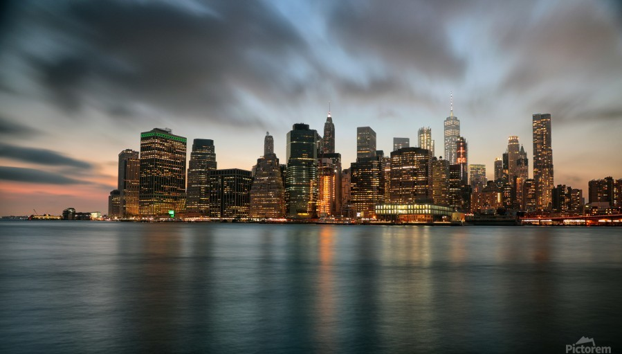 New York City Skyline At Dusk Kaye