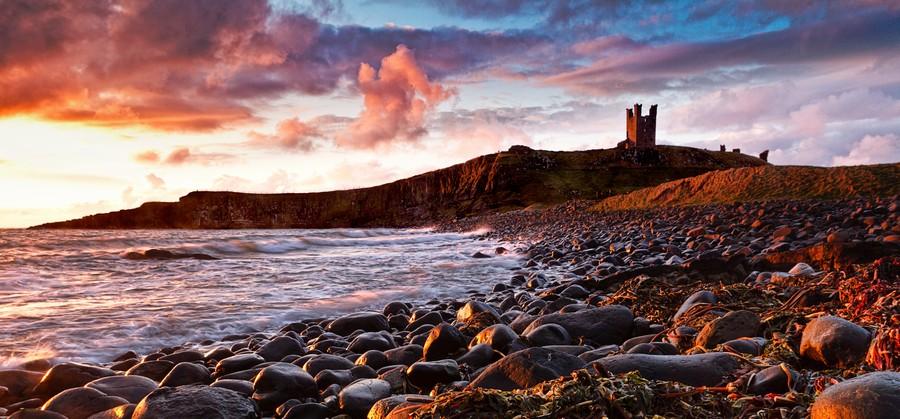 Dunstanburgh Castle, Northumberland, UK  Print