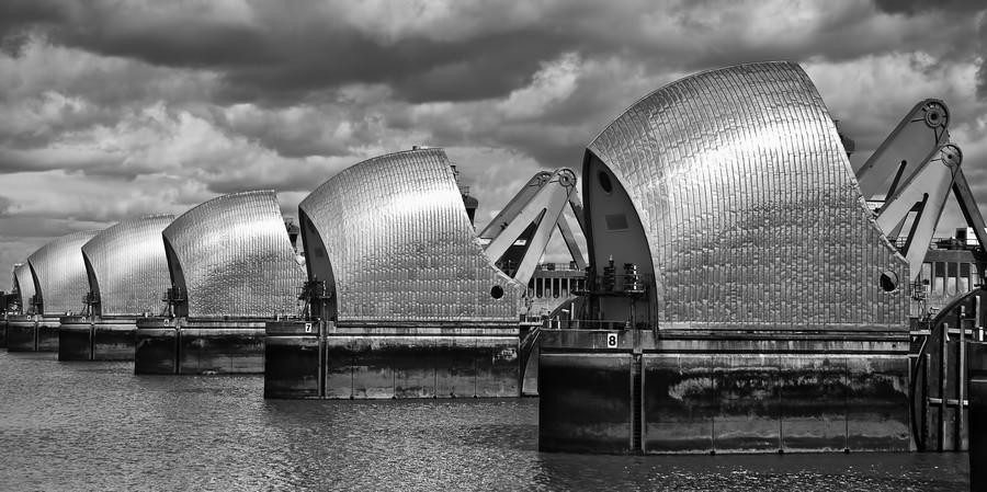 Thames Barrier, London, UK  Print