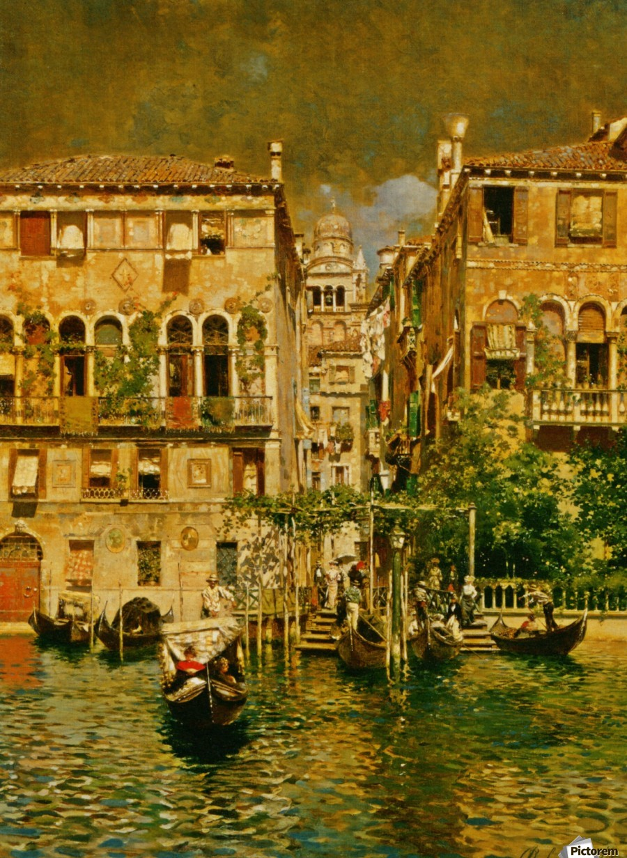 Leaving a Residence on the Grand Canal  Print