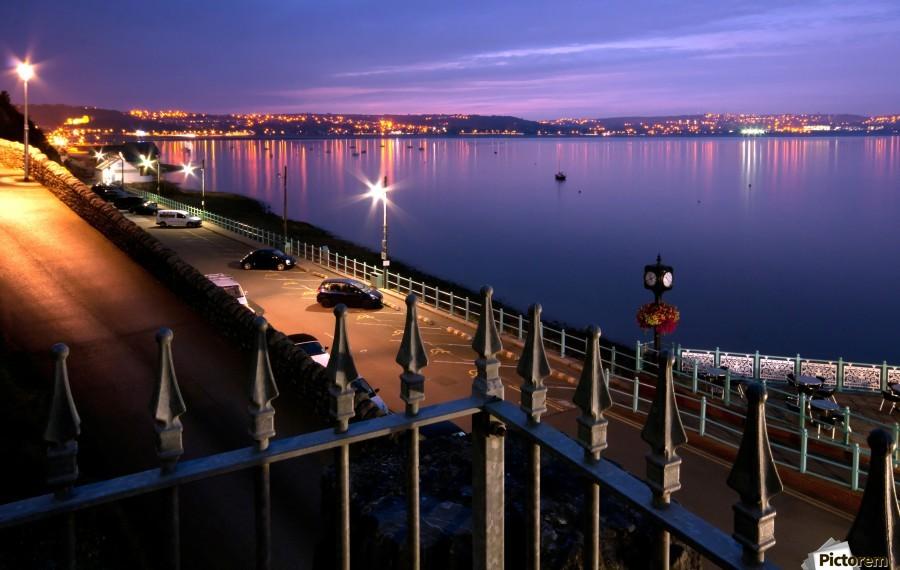 Swansea Bay at night  Print