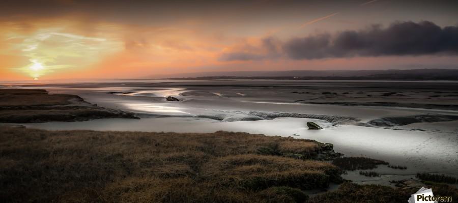 Penclawdd marsh sunset  Print