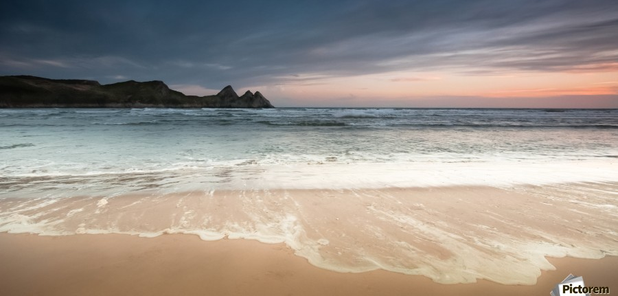 Three Cliffs Bay Swansea  Print