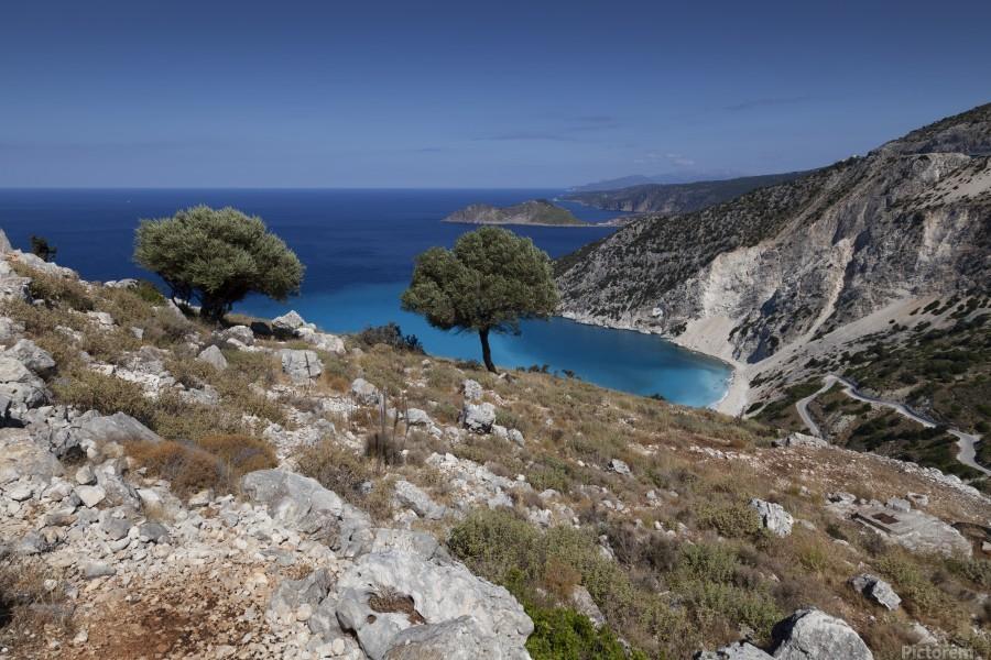 The Greek island of Kefalonia  Print