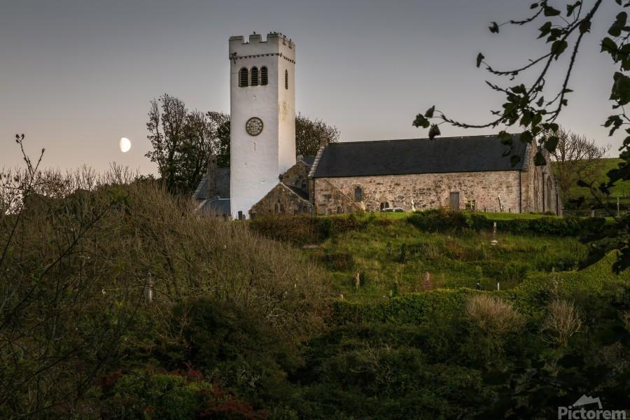 St Jamess Church in Manorbier  Print