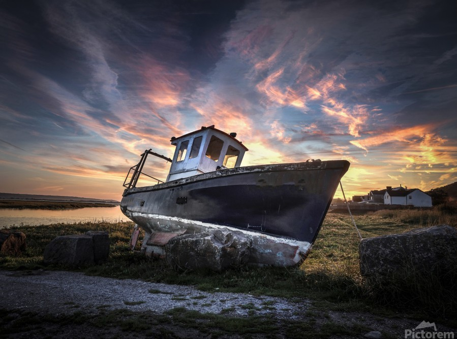 The old fishing boat  Print