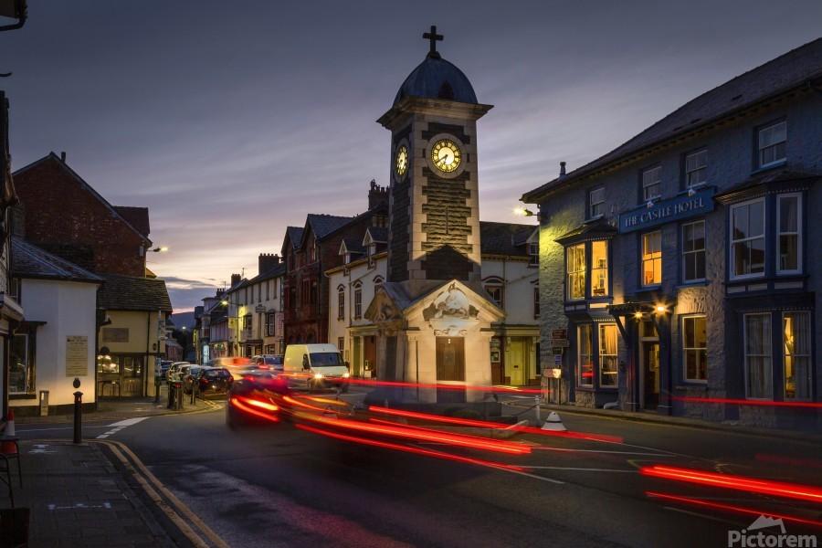 Rhayader town clock tower  Print