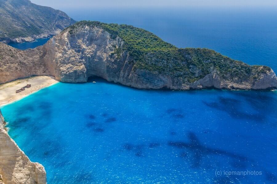 Navagio beach with shipwreck on Zakynthos island in Greece  Print