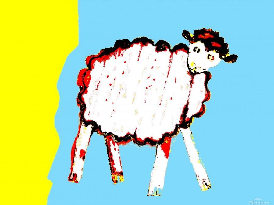 Little Aussie Sheep - Blue  Print