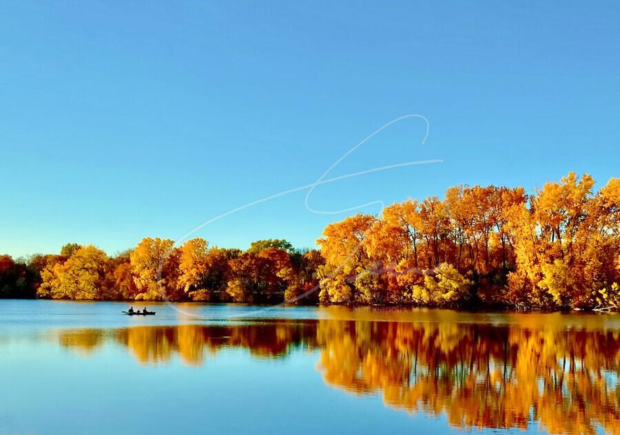 Autumn Canoe  Print