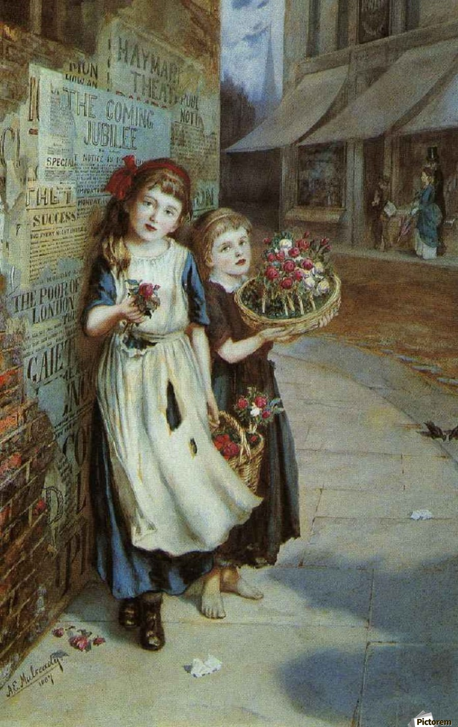 Little Flower Sellers  Print