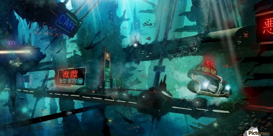 Future Noir - Abyss City  Print