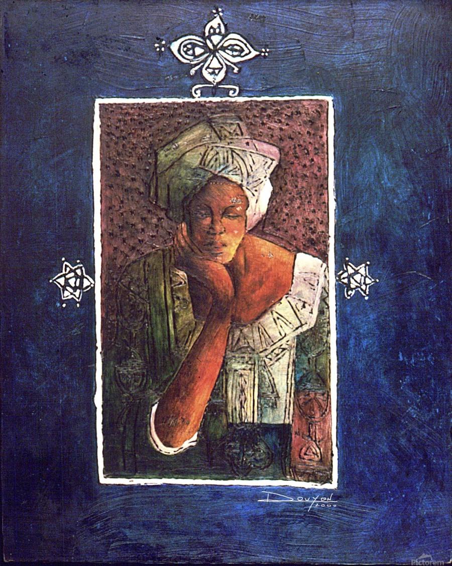 Femme au turban  Print
