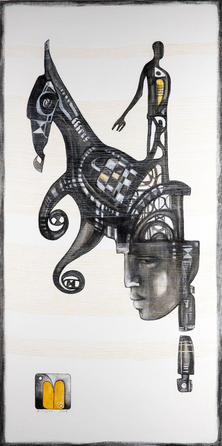 Mostly black white 5  Print