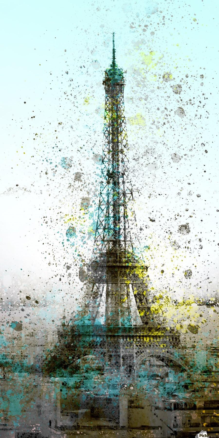 City-Art PARIS Eiffel Tower II  Print