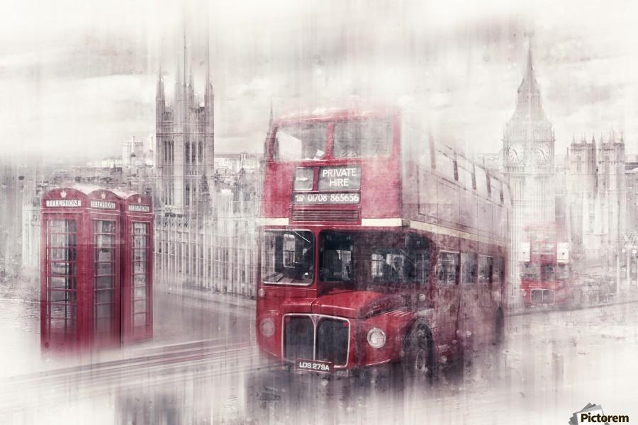 City-Art LONDON Westminster Collage II  Print
