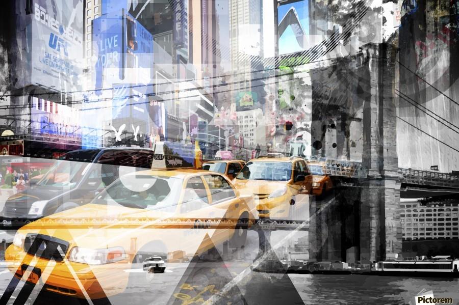 New York City Geometric Mix No. 9  Print