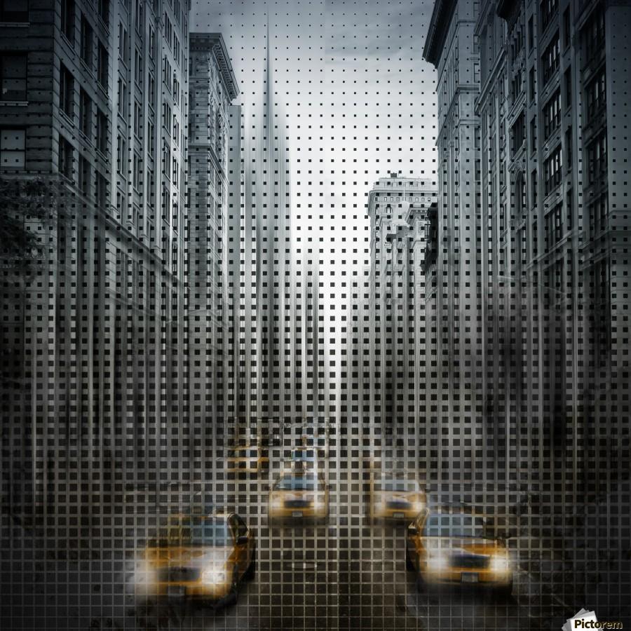 Graphic Art NYC 5th Avenue Traffic V  Print