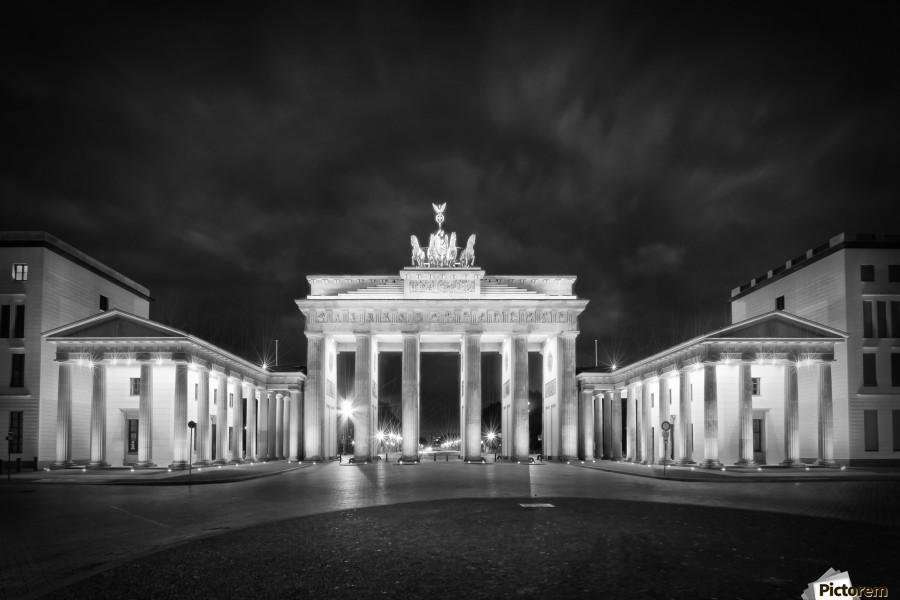 BERLIN Brandenburg Gate   Monochrome  Print