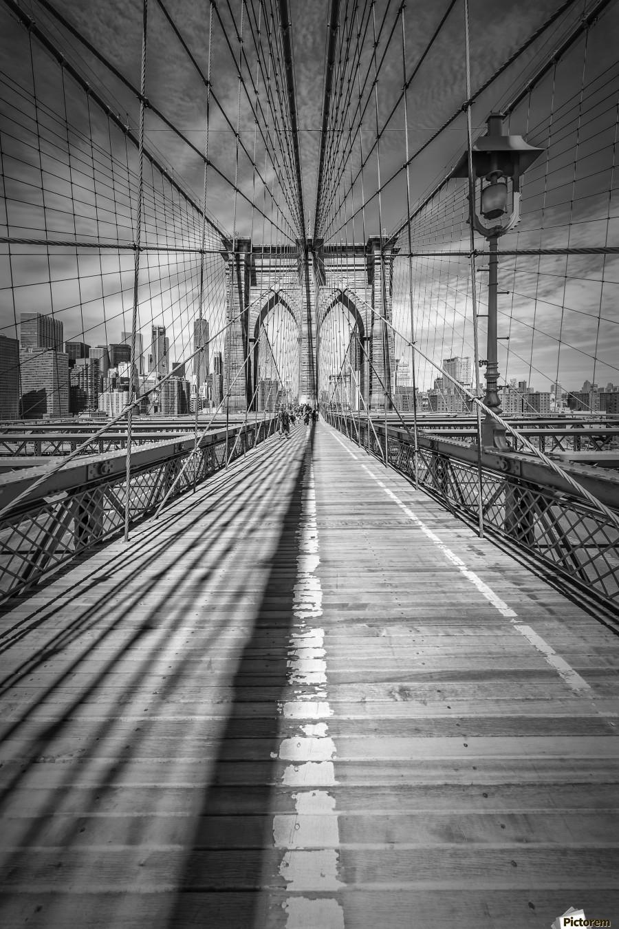 NEW YORK CITY Brooklyn Bridge  Print