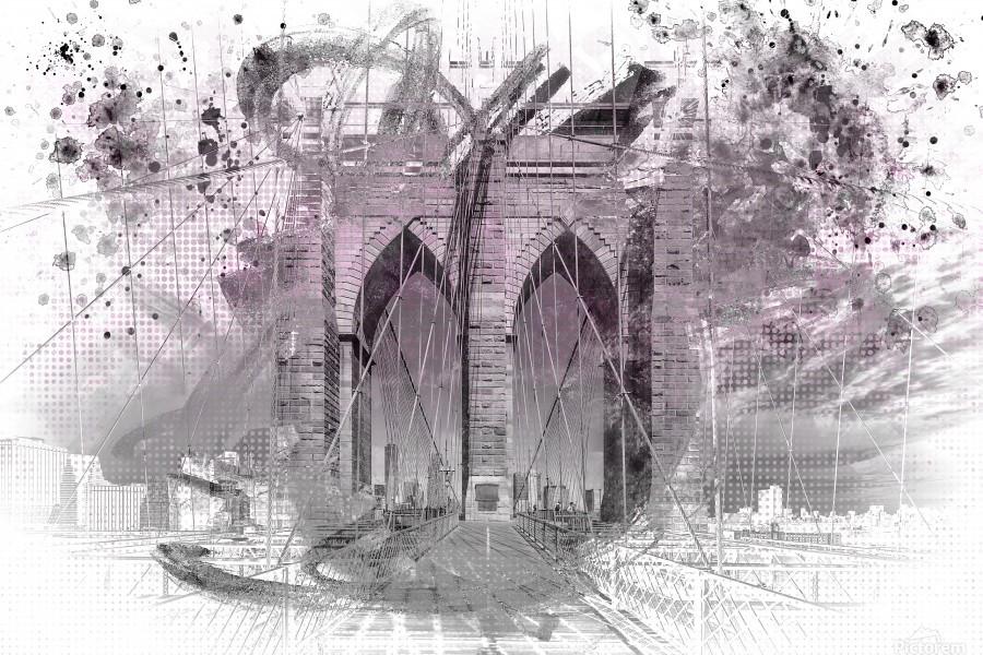 City Art Brooklyn Bridge in Detail     Imprimer