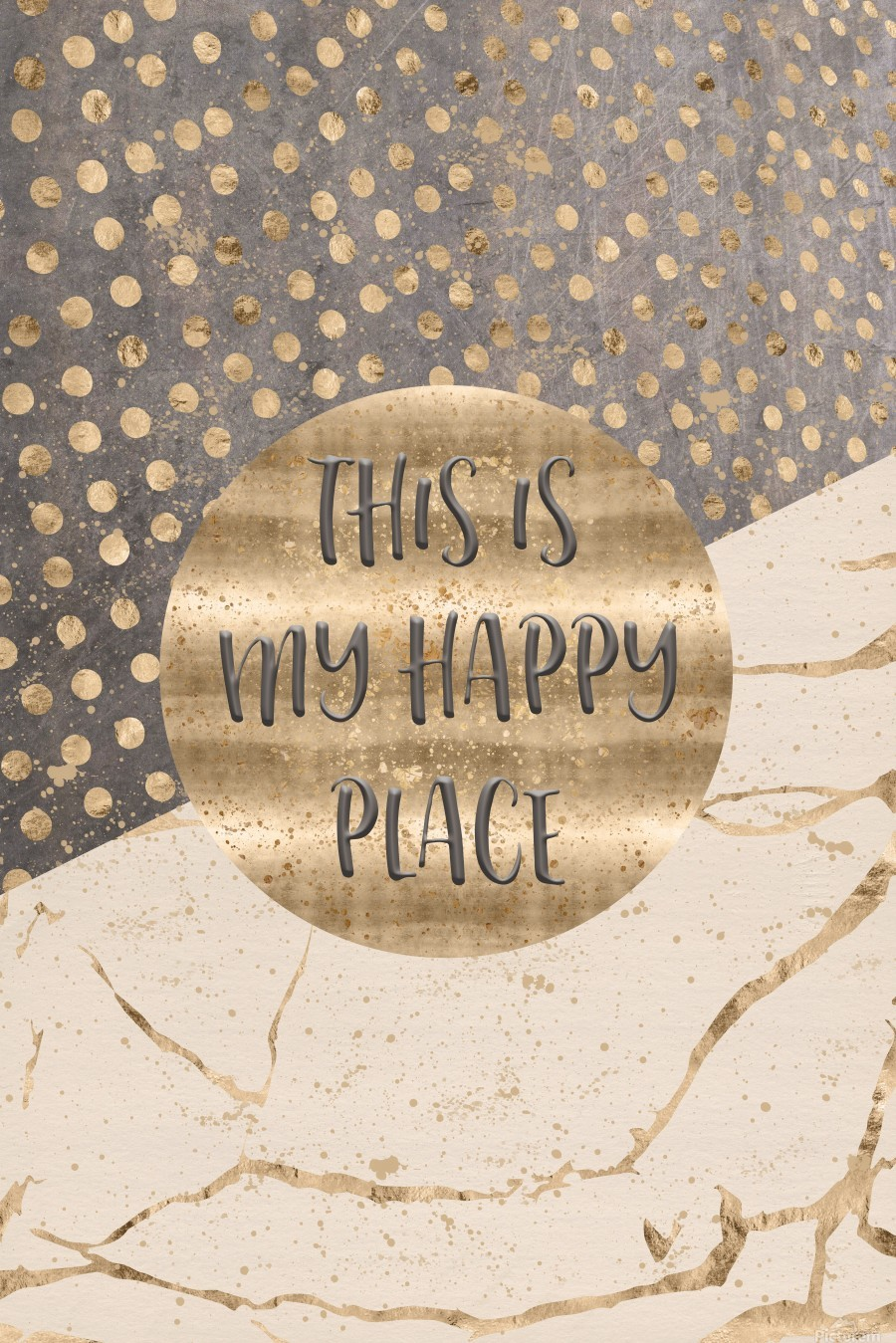 GRAPHIC ART This is my happy place  Print