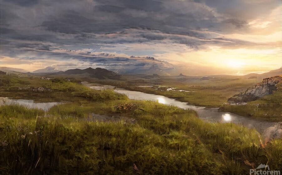 Landscape with river 1  Print