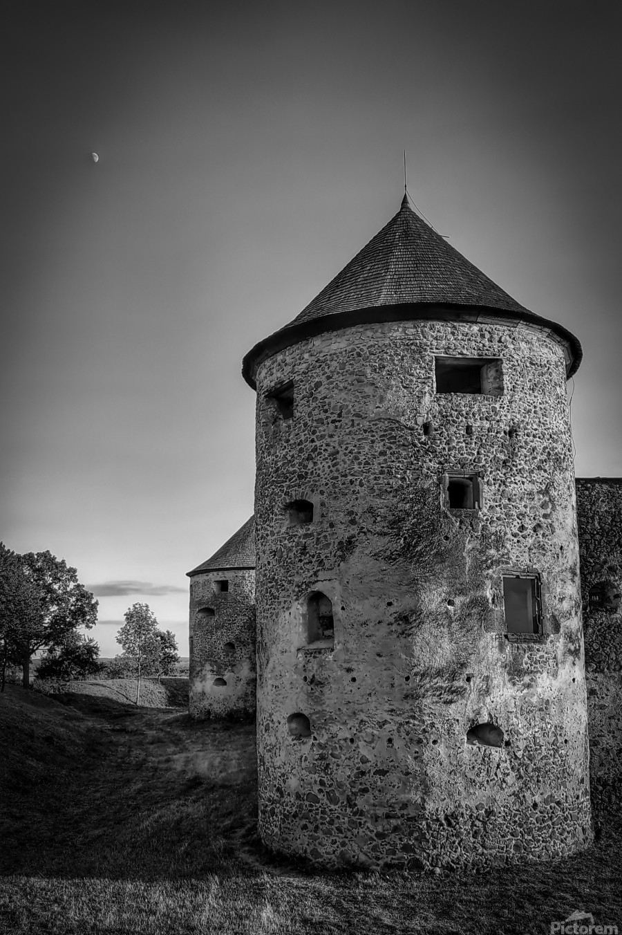 Old castle tower  Print