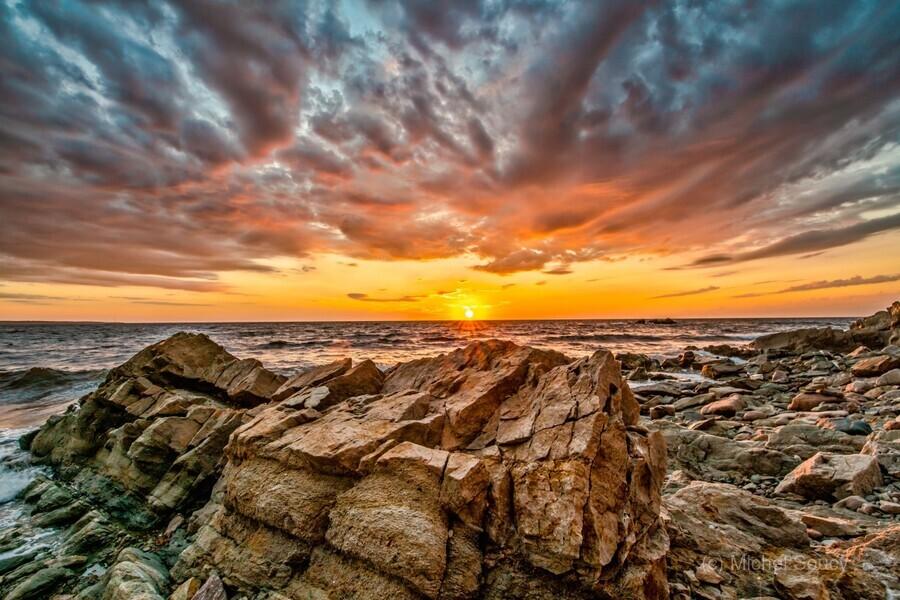 Rocks and Sunset  Print