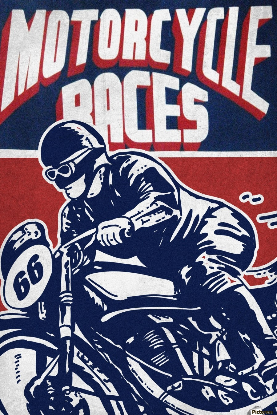 MR03 VINTAGE MOTORCYCLE BIKE RACES A2 POSTER PRINT