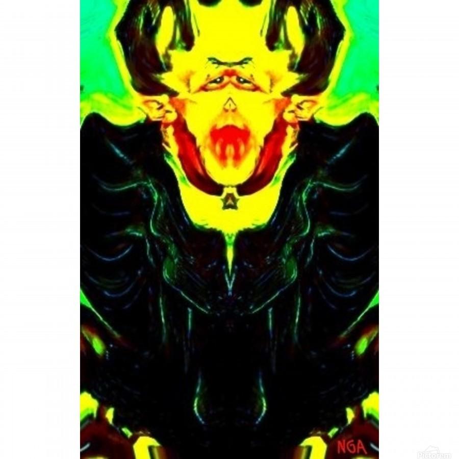 Dracula square format by Neil Gairn Adams  Print