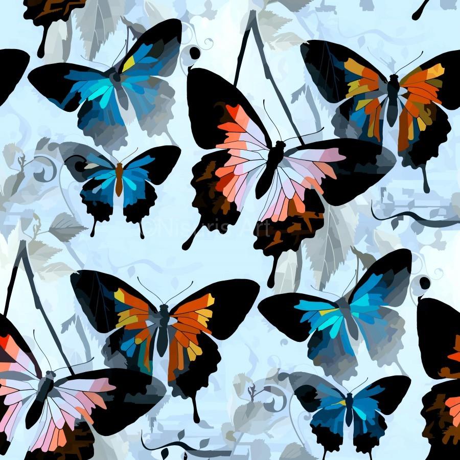 Seamless Butterflies Pattern   Print