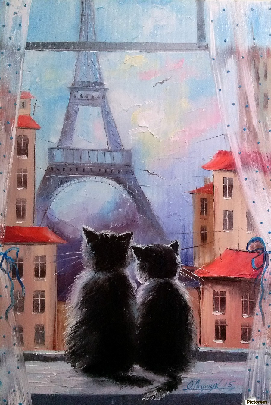 Друзя в Париже  Print