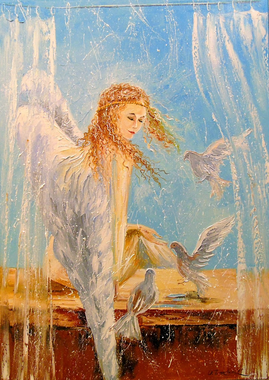 Angel on the window  Print