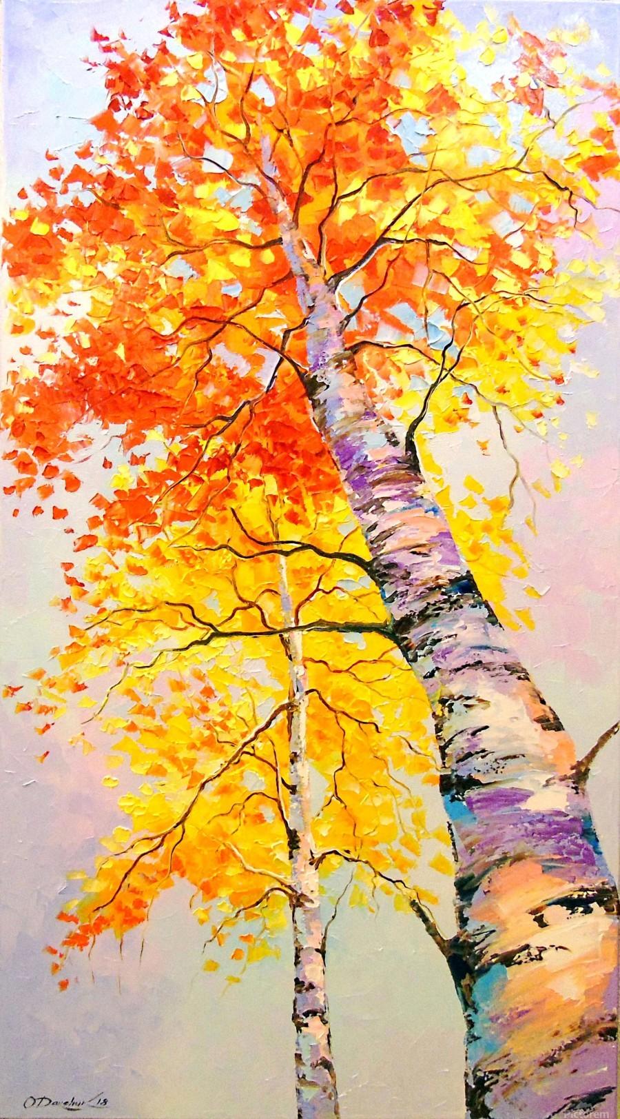 Heavenly birches  Print