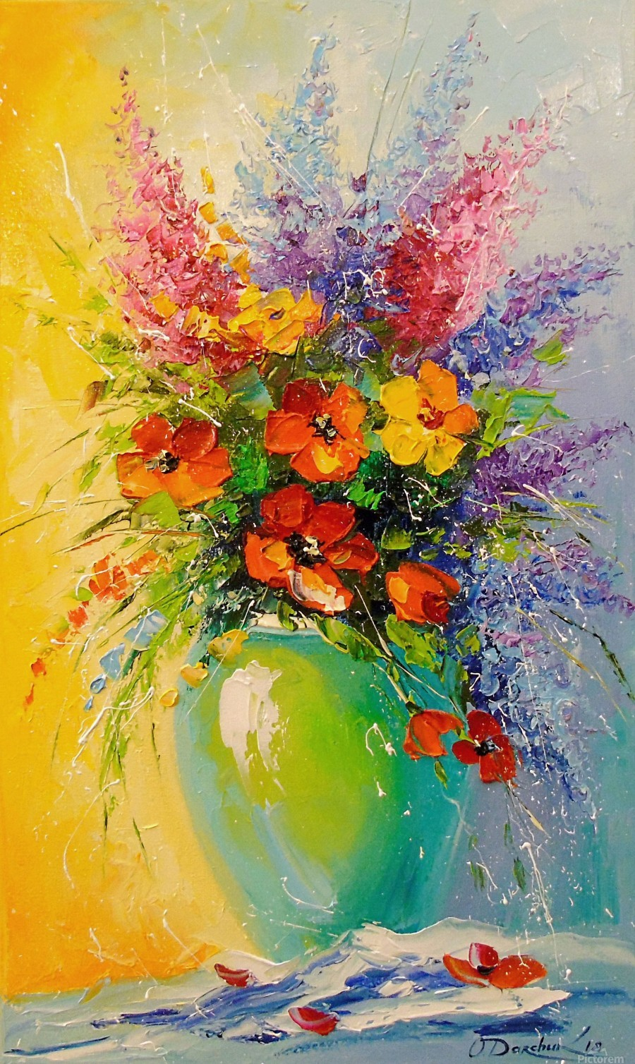 A bouquet of meadow flowers  Print