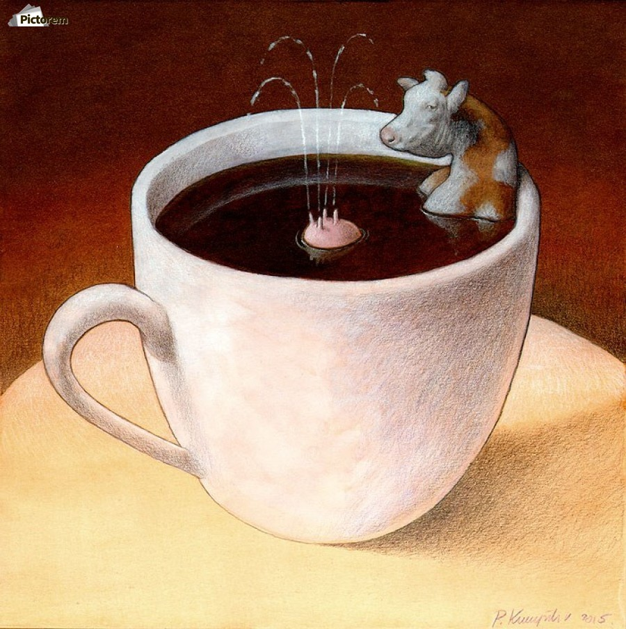 Coffee with milk  Print