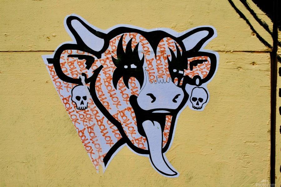 Demon Laughing Cow  Print